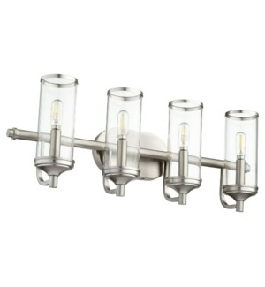 Collins 4 Light Transitional Satin Nickel Vanity