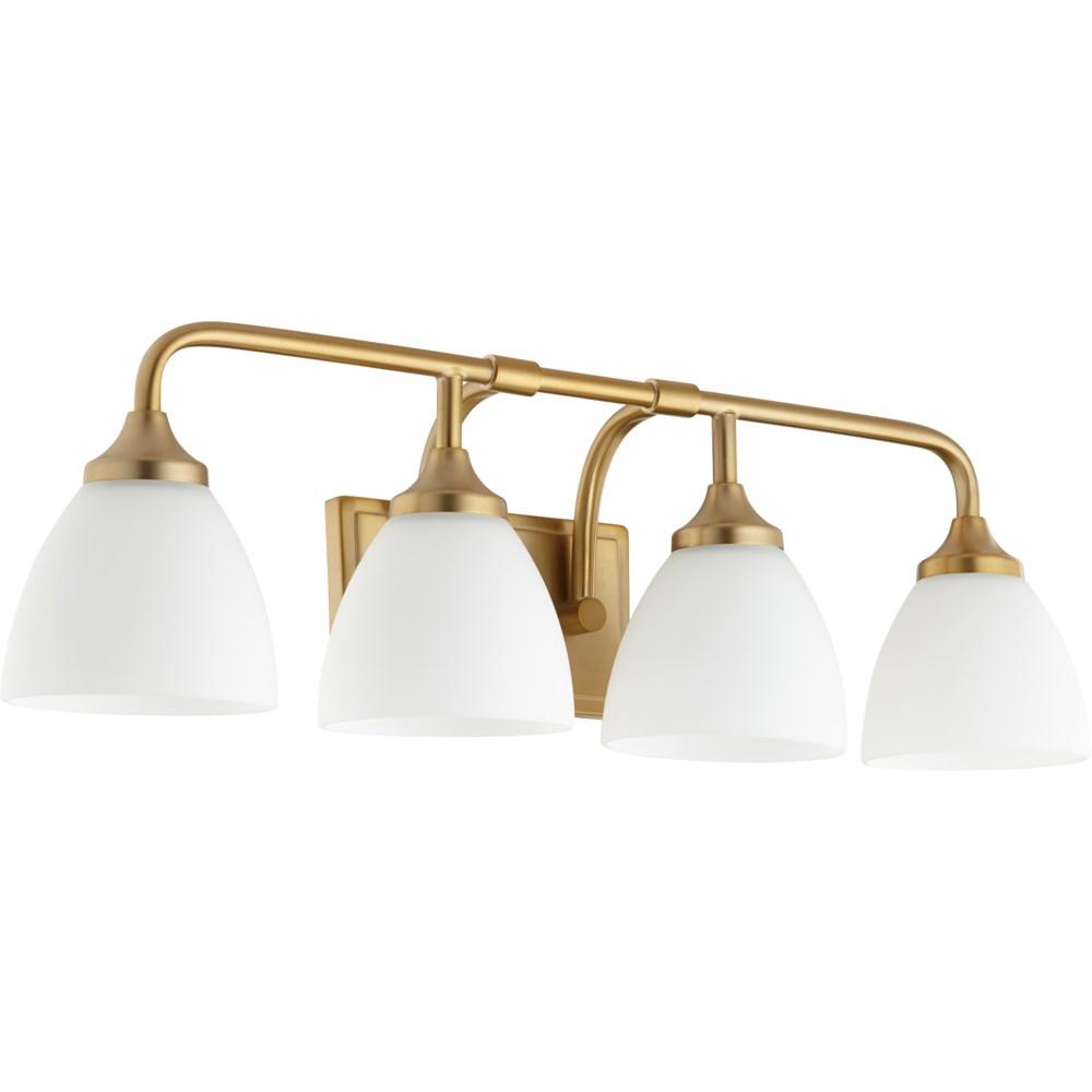 Enclave 4 Light Transitional Aged Brass Vanity