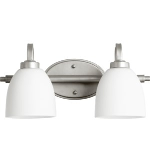 Reyes 2 Light Transitional Classic Nickel Vanity