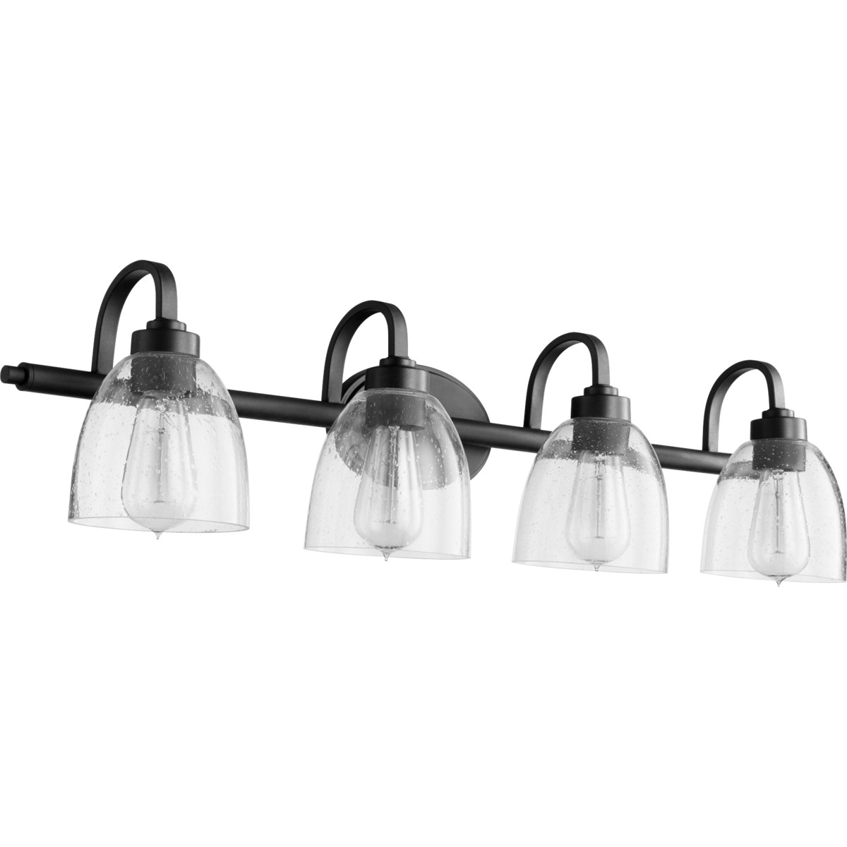 Reyes 4 Light Traditional Black with Clear Glass Vanity