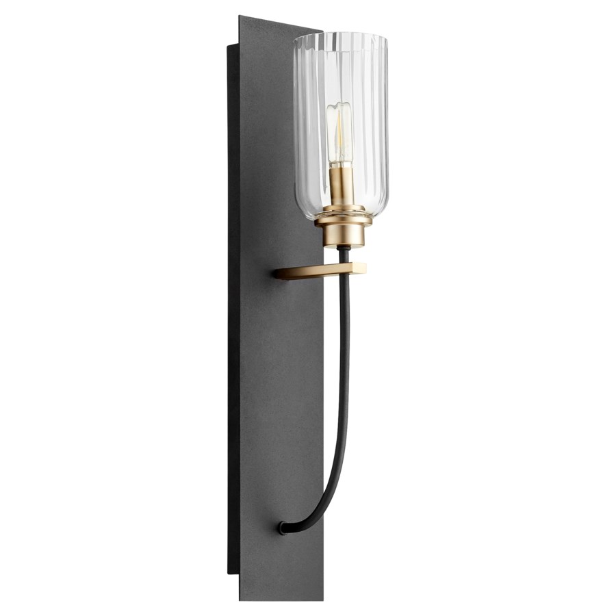 Espy 1 Light Soft Contemporary Black and Aged Brass Wall Sconce