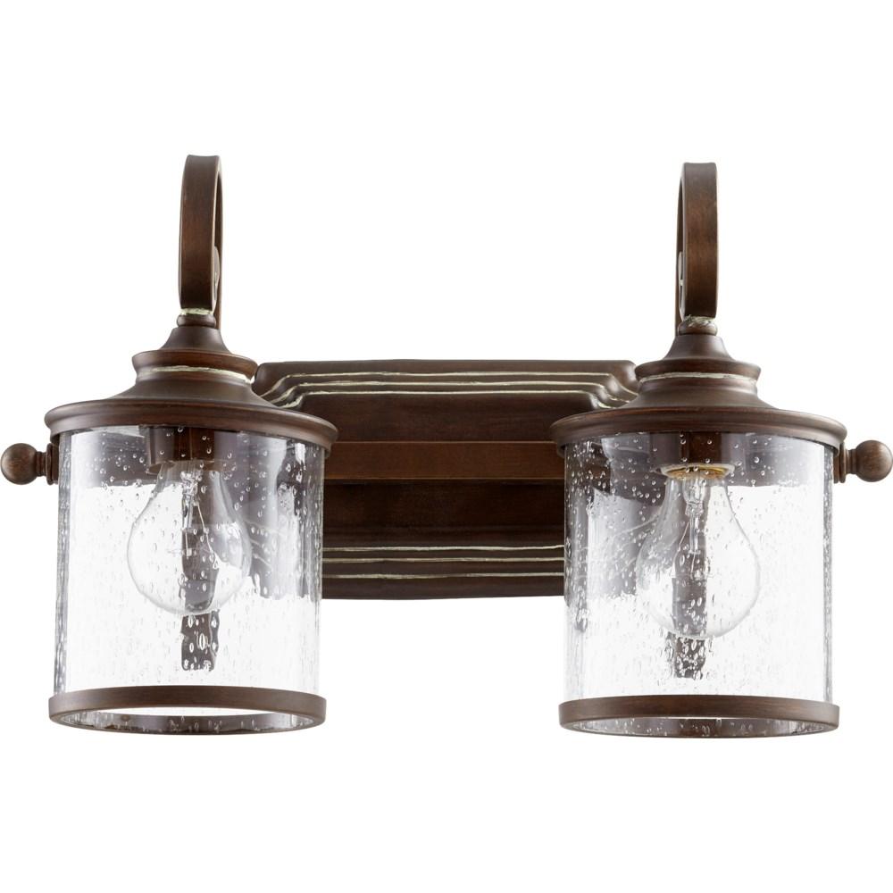 San Miguel 2 Light Transitional Vintage Copper Vanity