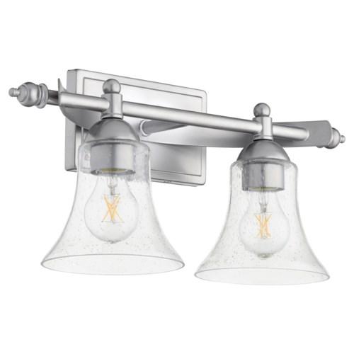 Aspen 2 Light Transitional Classic Nickel Vanity