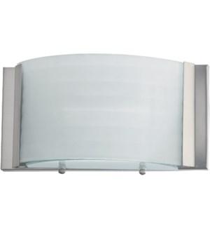 1 Light Transitional Satin Nickel Wall Sconce