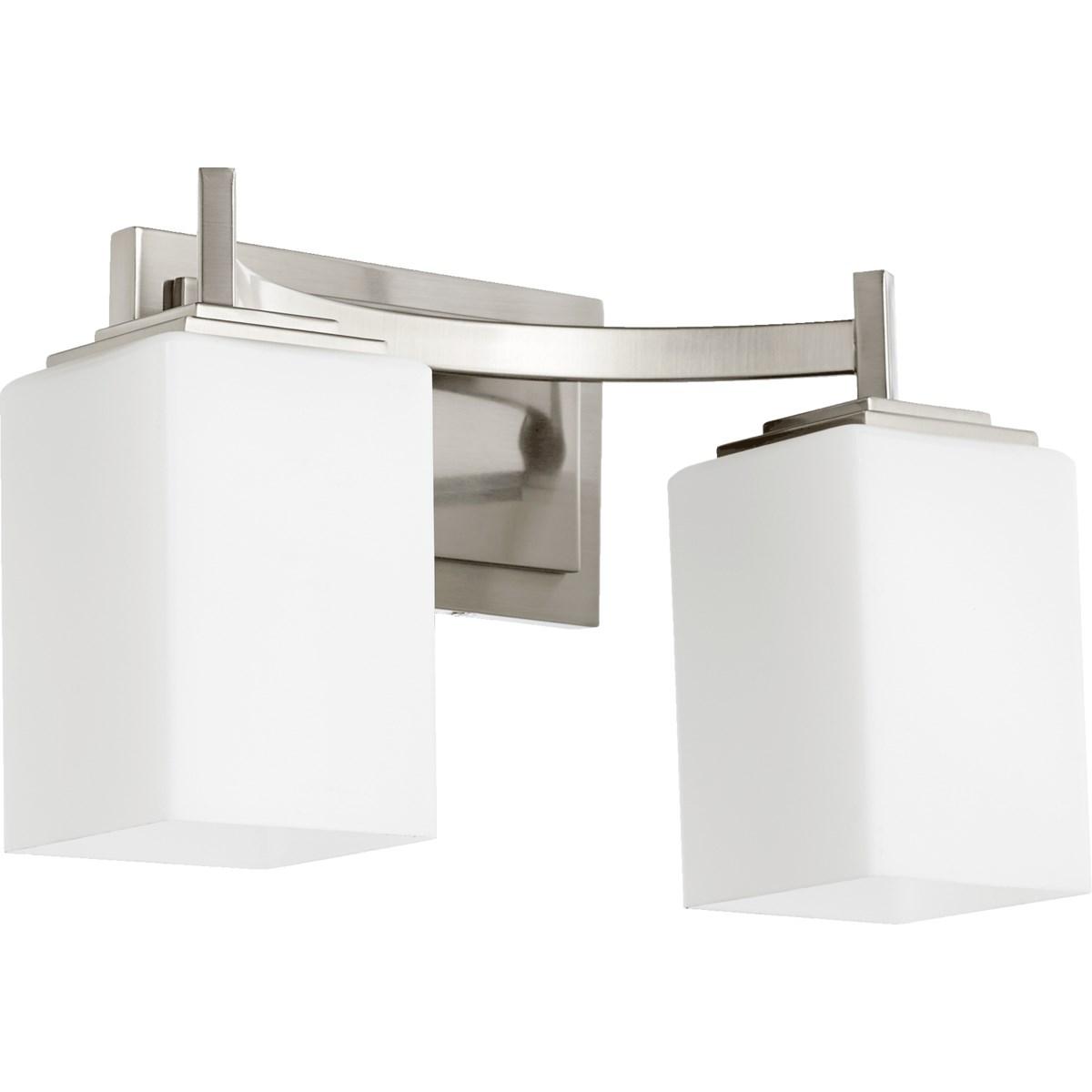 Delta 2 Light Modern and Contemporary Satin Nickel Vanity
