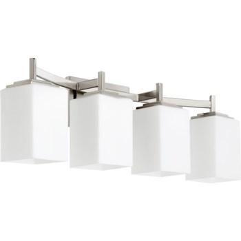 Delta 4 Light Modern and Contemporary Satin Nickel Vanity