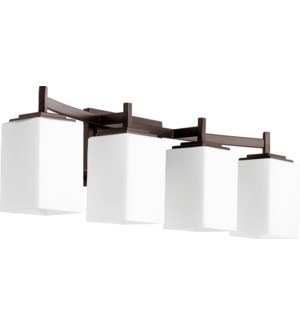 Delta 4 Light Modern and Contemporary Oiled Bronze Vanity
