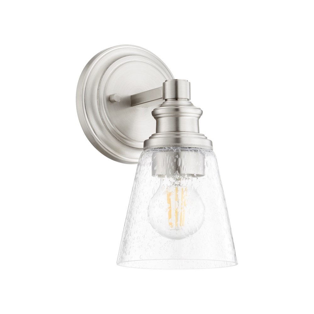 Dunbar 1 Light Soft Contemporary Satin Nickel Wall Sconce
