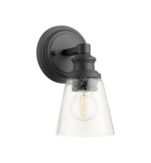 Dunbar 1 Light Soft Contemporary Black Wall Sconce