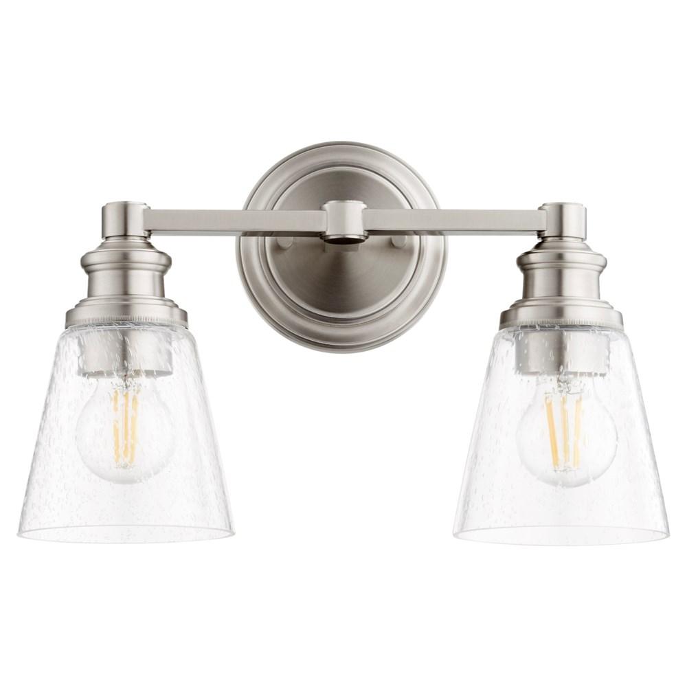 Dunbar 2 Light Soft Contemporary Satin Nickel Vanity