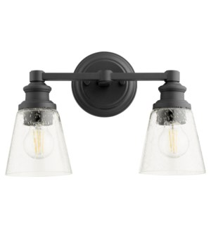 Dunbar 2 Light Soft Contemporary Black Vanity
