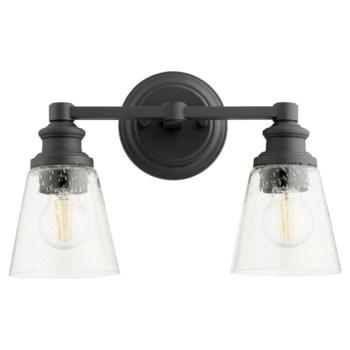 Dunbar 2 Light Soft Contemporary Black Vanity
