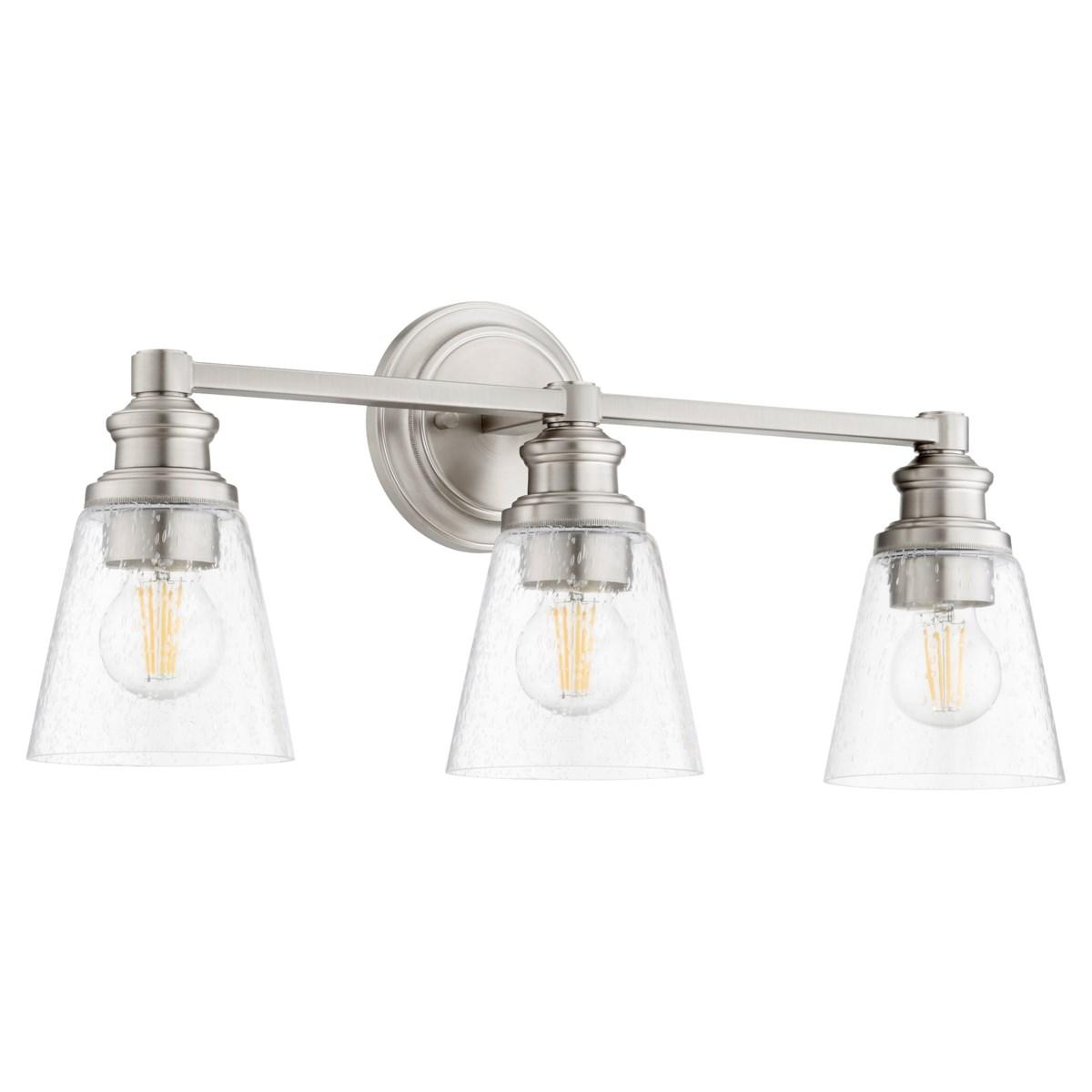 Dunbar 3 Light Soft Contemporary Satin Nickel Vanity