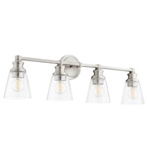 Dunbar 4 Light Soft Contemporary Satin Nickel Vanity