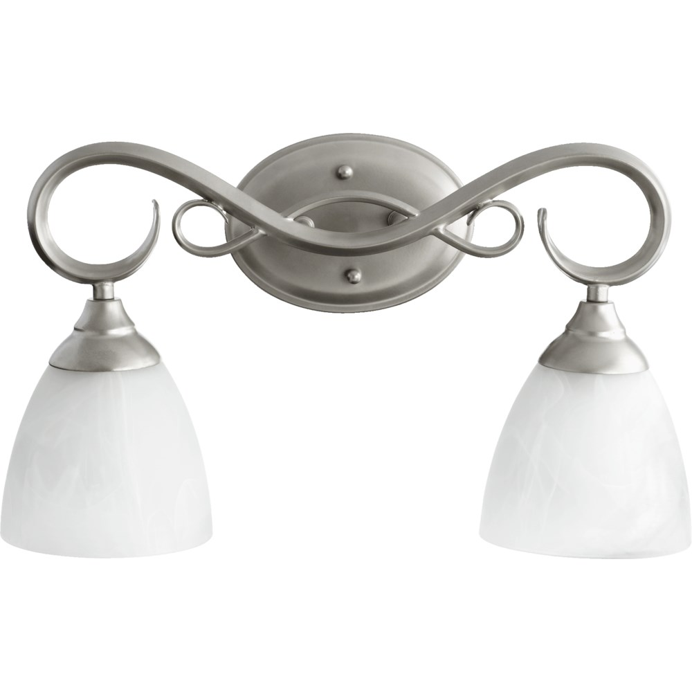 Powell 2 Light Traditional Classic Nickel  Vanity