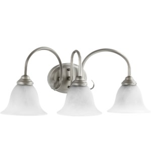 Spencer 3 Light Traditional Classic Nickel Vanity