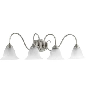 Spencer 4 Light Transitional Classic Nickel Vanity