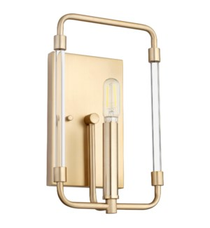 Optic 1 Light Modern and Contemporary Aged Brass Wall Sconce