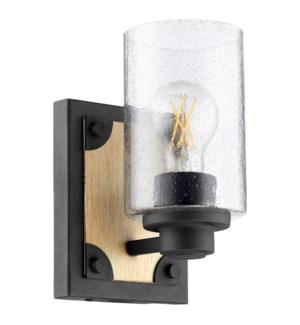 Corner Bracket 1-Light Noir Wall Mount