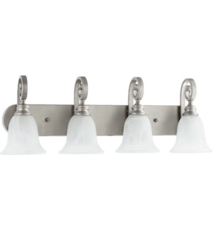Bryant 4 Light Traditional Classic Nickel Vanity