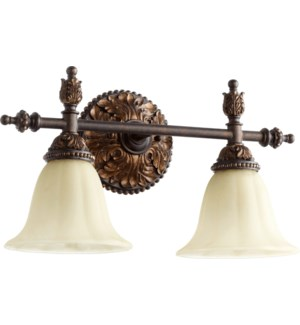 Rio Salado 2 Light Traditional Toasted Sienna With Mystic Silver Vanity