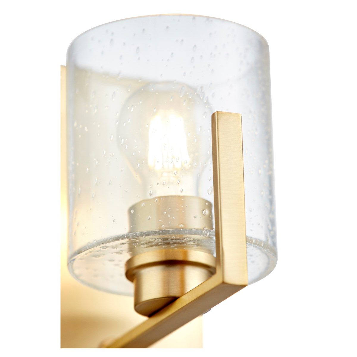 One-Light Clear Seeded Aged Brass Wall Mount