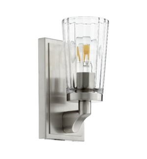 Modern and Contemporary 1 Light Satin Nickel Wall Sconce