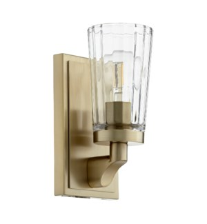 Modern and Contemporary 1 Light Aged Brass Wall Sconce