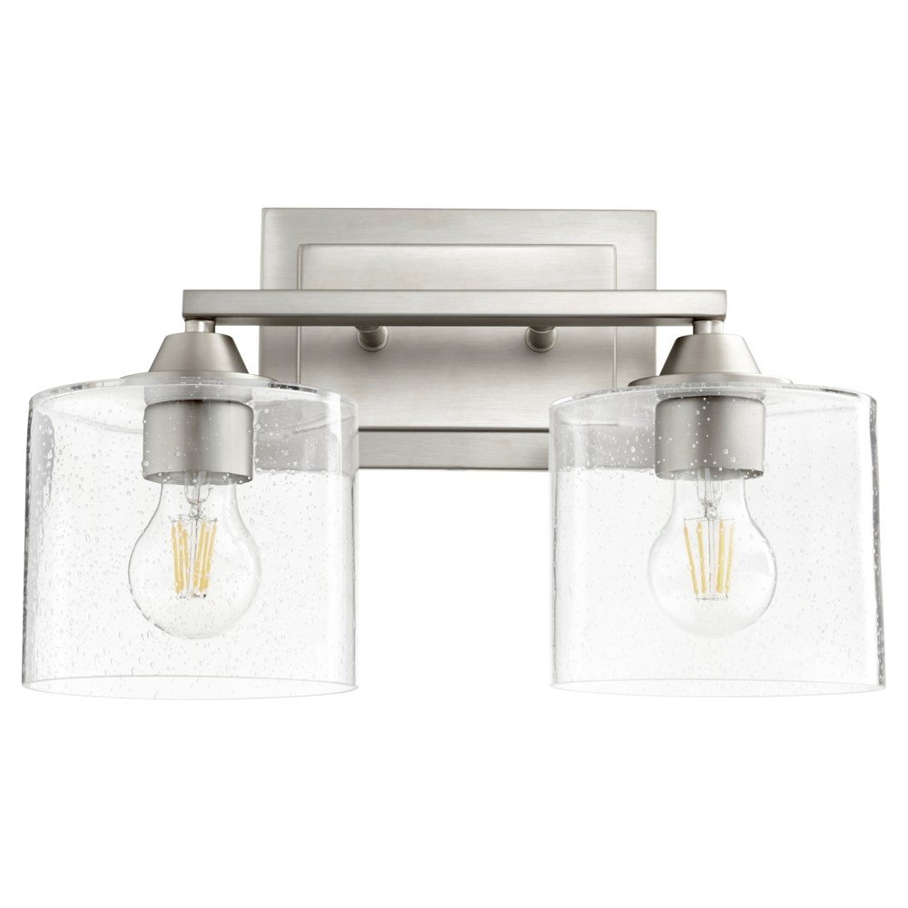 Dakota 2 Light Soft Contemporary Satin Nickel  Vanity