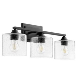 Dakota 3 Light Soft Contemporary Black Vanity