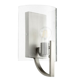 Dakota 1 Light Soft Contemporary Satin Nickel Wall Sconce