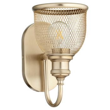 Omni 1 Light Transitional Aged Brass Wall Sconce