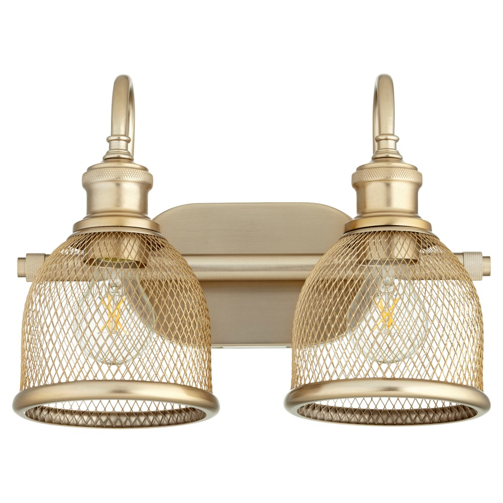 Omni 2 Light Transitional Aged Brass Vanity