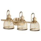 Omni 3 Light Transitional Aged Brass Vanity