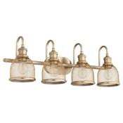 Omni 4 Light Industrial Aged Brass Vanity