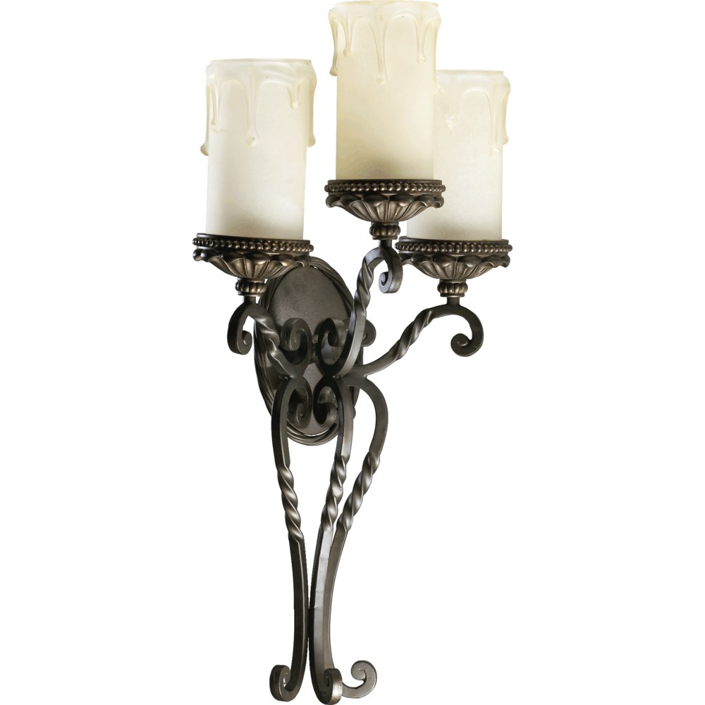 Alameda 3 Light Traditional Oiled Bronze Wall Sconce