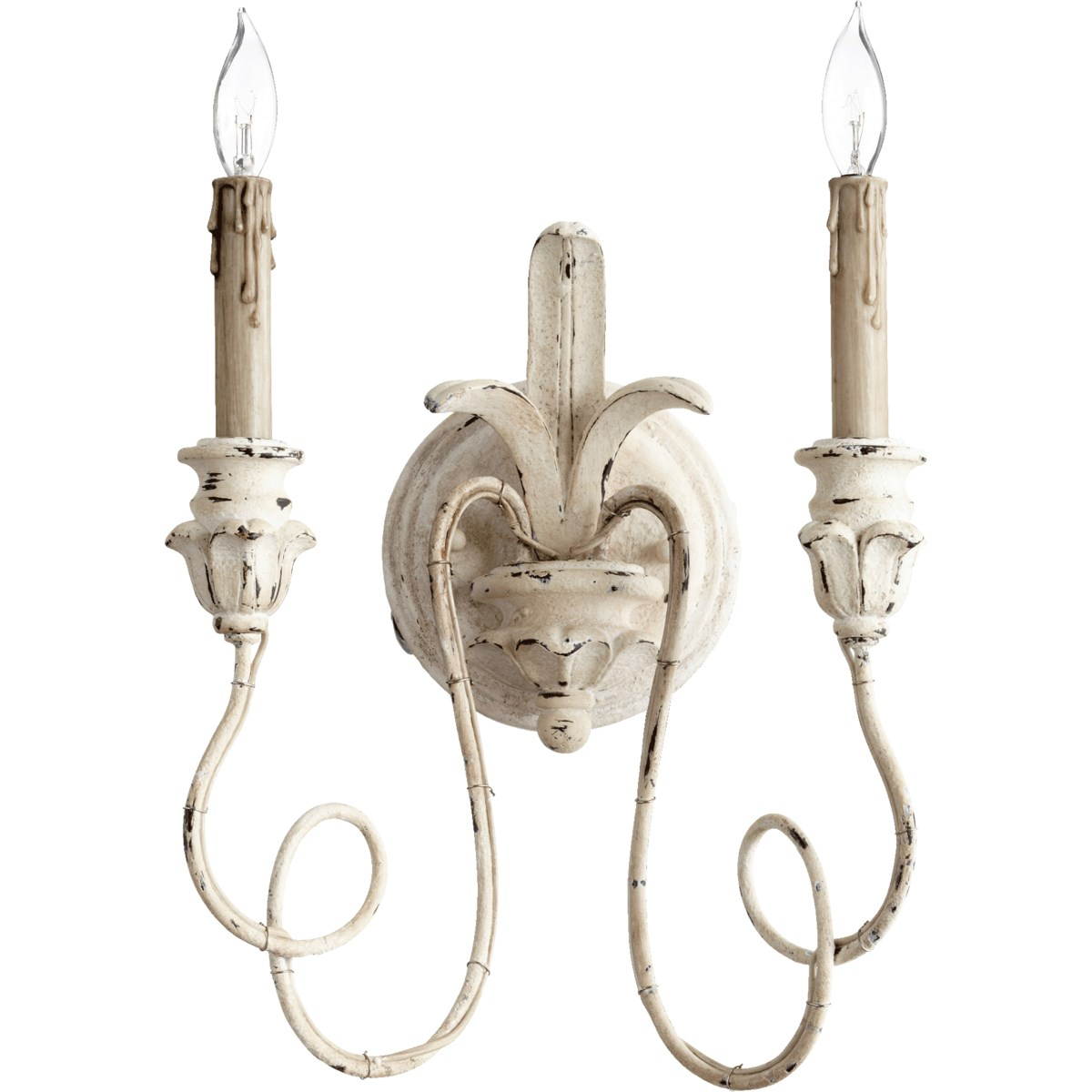 Salento 2 Light Traditional Persian White Wall Sconce