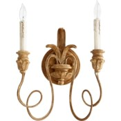 Salento 2 Light Transitional French Umber Wall Sconce