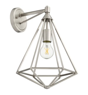 Bennett 1 Light Transitional Satin Nickel Wall Sconce