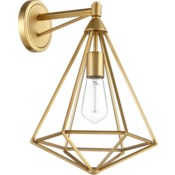 Bennett 1 Light Transitional Aged Brass Wall Sconce