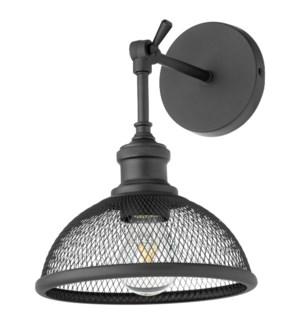Omni 1 Light Industrial Black Wall Sconce