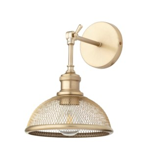Omni 1 Light Industrial Aged Brass  Wall Sconce