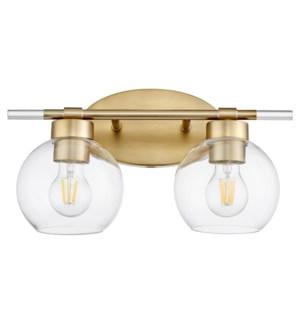Volan 2-Light Aged Brass Vanity