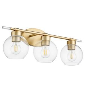 Volan 3-Light Aged Brass Vanity