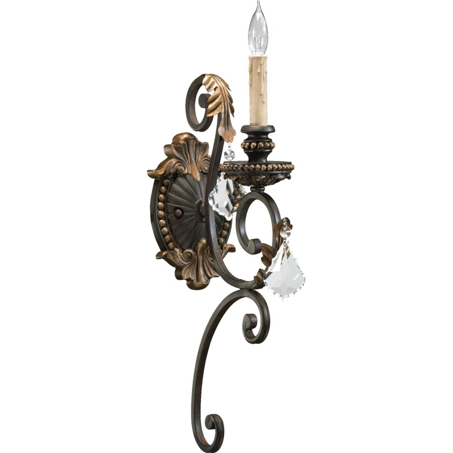 Rio Salado 1 Light Traditional Toasted Sienna With Mystic Silver Wall Sconce