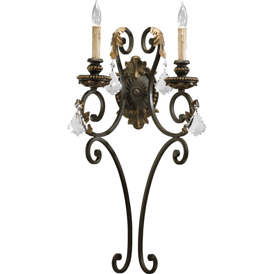 Rio Salado 2 Light Traditional Toasted Sienna With Mystic Silver Wall Sconce