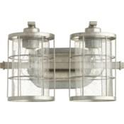 Ellis 2 Light Transitional Tumbled Steel Vanity