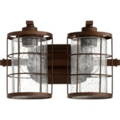 Ellis 2 Light Industrial Oiled Bronze Vanity