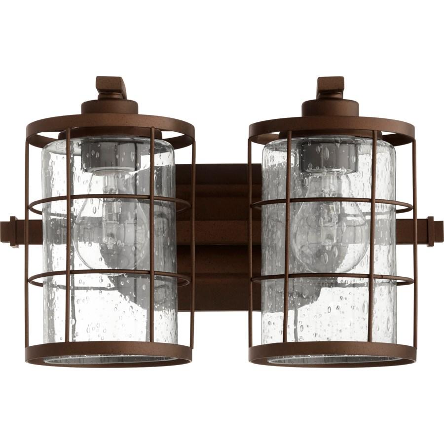Ellis 2 Light Industrial Oiled Bronze Vanity