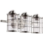 Ellis 3 Light Industrial Satin Nickel Vanity